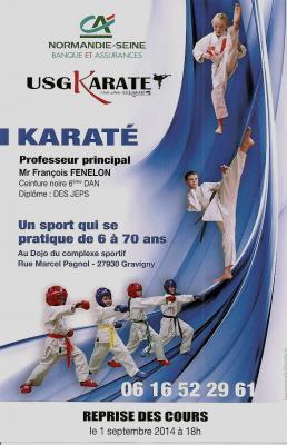 Affiche karate 2014 2015