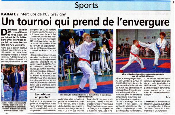 Article presse inter clubs du 23 mars 2014