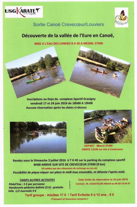 Sortie canoe 2017